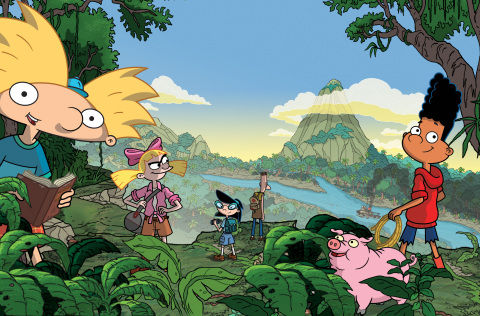 Arnold (left) and his friends take the field trip of a lifetime in Nickelodeon's Hey Arnold!: The Jungle Movie, premiering Fri., Nov. 24, at 7 p.m. (ET/PT). © Nickelodeon.