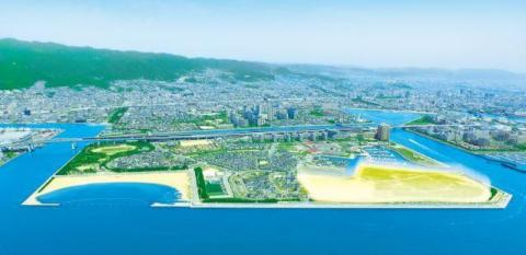 Area where PanaHome's Smart City Shioashiya Solar-Shima is being developed (Graphic: Business Wire)