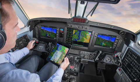 Garmin G1000 NXi integrated flight deck in a King Air. (Photo: Business Wire)
