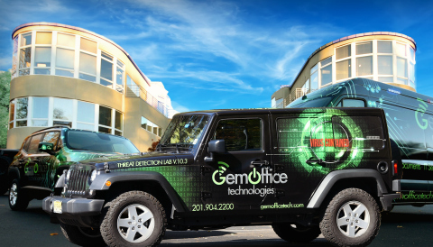 GEM's latest Quick Response Mobile Service Vehicle, The Threat Detection Lab, in front of the GEM HQ ...