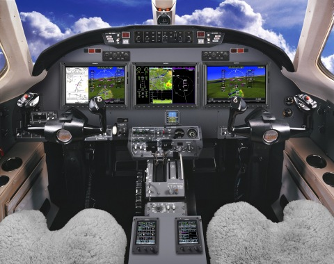 The G5000 integrated flight deck in the Citation Excel. (Photo: Business Wire)
