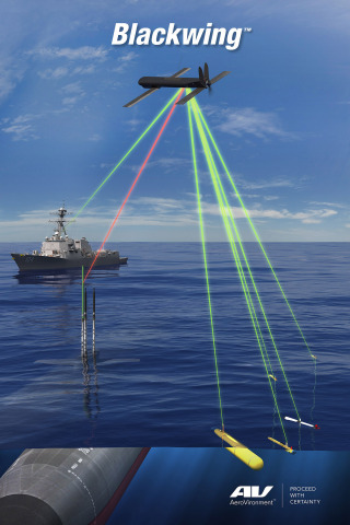 AeroVironment's Blackwing is a small, tube-launched UAS that launches from under the surface of the sea, from manned submarines and unmanned underwater vehicles (Graphic: Business Wire)
