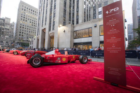 Ferrari 70th Anniversary Celebration in Rockefeller Plaza (Photo: Business Wire)