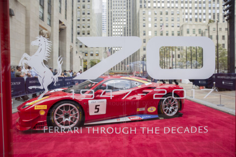Ferrari 70th Anniversary Celebration in New York City (Photo: Business Wire)