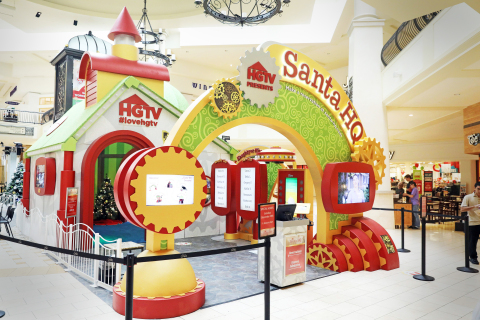 The HGTV Santa HQ activation as seen at Macerich malls across America. (Photo: Business Wire)