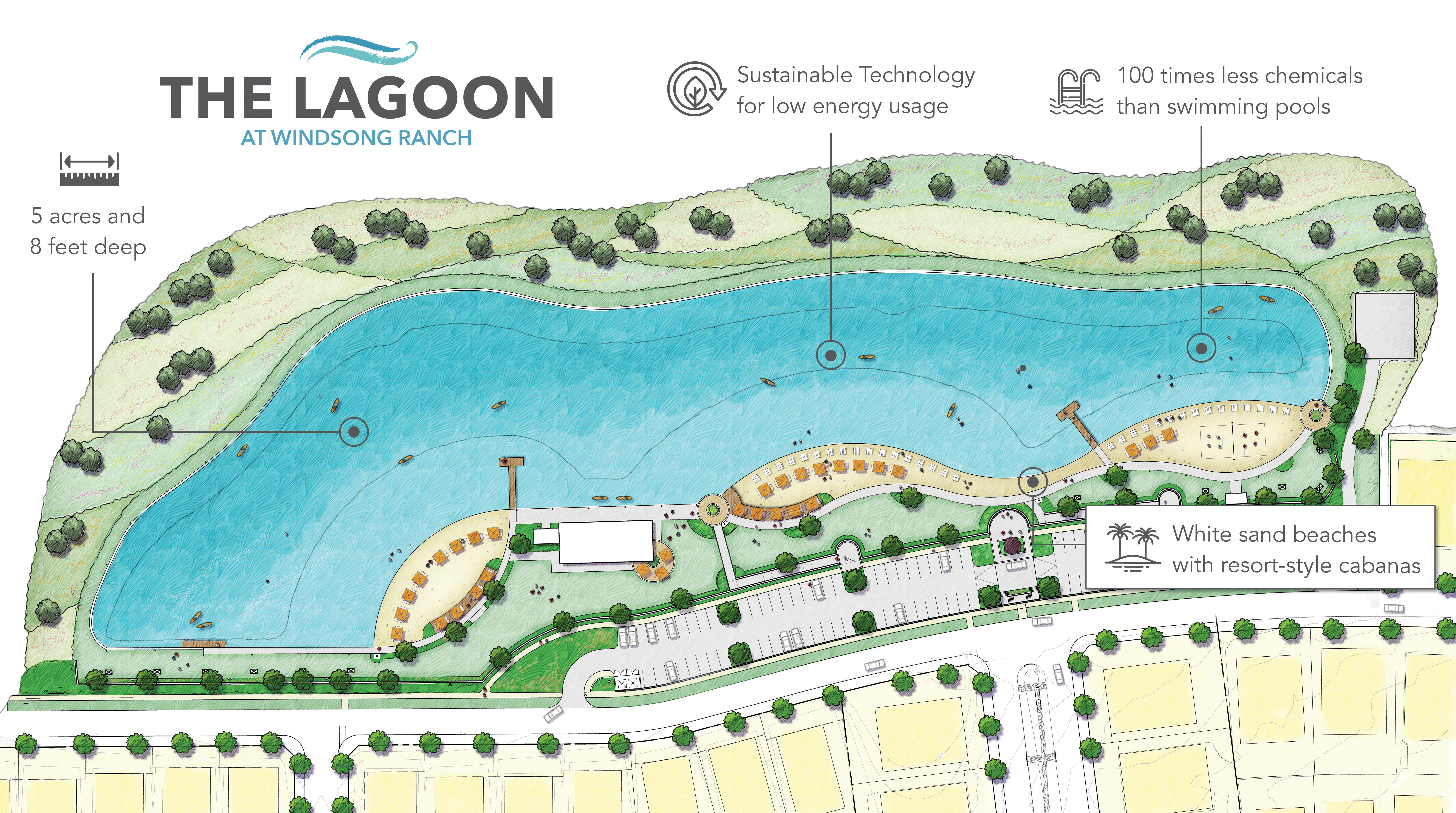 New Five-Acre, Crystal Clear Lagoon to Create Beach