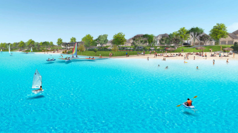 Rendering of five-acre crystal clear lagoon at Windsong Ranch in Prosper, TX. (Photo: Business Wire)