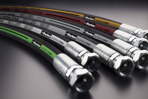 Parker Hannifin releases 187 Hose, a 1000psi hydraulic hose, to enhance GlobalCore product line. (Ph ...