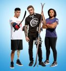 24 Hour Fitness announces partnership with three U.S. Olympic and Paralympic athletes pictured from left to right: Rico Roman, Gus Kenworthy and Elana Meyers Taylor (Photo: Business Wire)