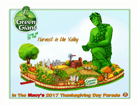 The jolly Green Giant debuts a new float in the 91st Annual Macy's Thanksgiving Day Parade this Nove ...