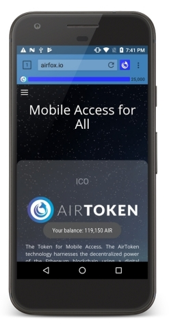 The AirToken blockchain unlocks mobile access by connecting mobile airtime sponsors (advertisers and lenders) to prepaid mobile subscribers in emerging markets. (Photo: Business Wire)