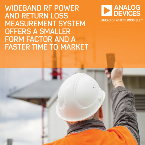Analog Devices' Wideband RF Power and Return Loss Measurement System Offers Smaller Form Factor and Faster Time to Market (Graphic: Business Wire)