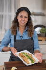 Chef Adrienne Cheatham uses Schwan's® products to create new recipes and tips at New York Taste Tour. (Photo: Schwan's Shared Services, LLC)