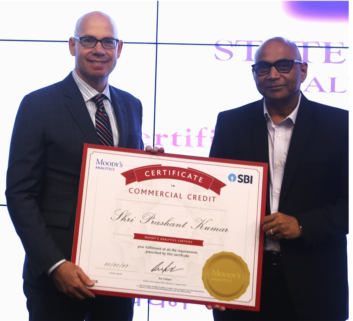 Sbi Launches Credit Certification In Collaboration With Moodys