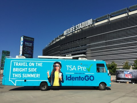 New York Jets Announce IdentoGO by IDEMIA as Official Identity Security and Biometrics Partner (Phot ...