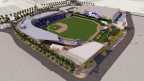 Las Vegas Ballpark, Concept Rendering of Southeast View photo by HOK