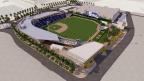 Las Vegas Ballpark, Concept Rendering of Southeast View photo by HOK