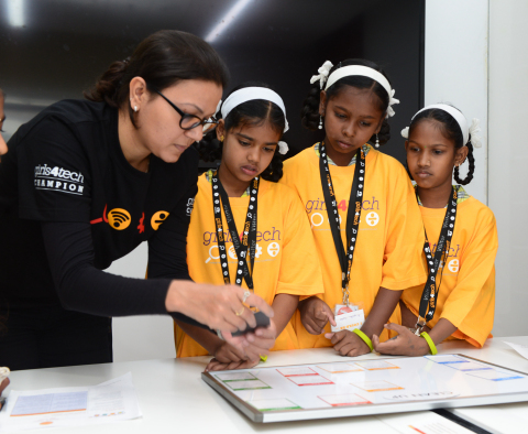 On International Day of the Girl, Mastercard shines a light on the development of young girls and commits to reach 200,000 by 2020 with its Girls4Tech STEM education program. (Photo: Business Wire)