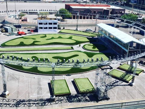 Southwest Greens new installation at the Major Series of Putting (MSOP) in Las Vegas. (Photo: Busine ...