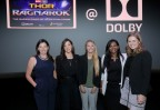 Dolby Laboratories hosts Marvel Studios' Superpower of STEM Challenge which encourages young girls to discover the magic of science and technology. (L-R) Dolby Laboratories Jennifer Bowcock, Vice President of Global Communications and Poppy Crum, Chief Scientist join Dolby panelists Ashley Penna, Yezhisai Murugesan, and Kristin Chesnutt. Photo: Craig T. Mathew/Mathew Imaging.