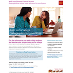 """Wells Fargo webinar details for the October 17 event, """"Creating a college bound nation."""""""