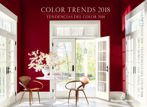 Benjamin Moore, North America's favorite paint, color and coatings brand, declares Caliente AF-290, a vibrant, charismatic shade of red, its highly anticipated Color of the Year 2018. (Photo: Business Wire)
