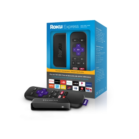 Roku Express with Packaging (French version) (Photo: Business Wire)