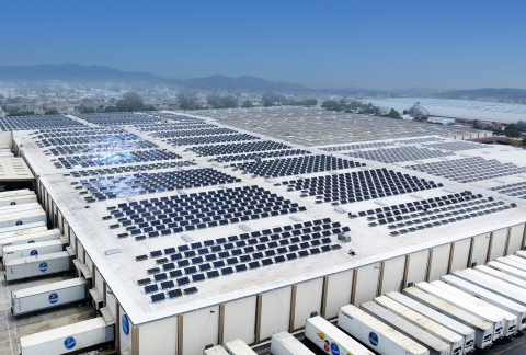 The world's largest rooftop solar tracker installation - Edisun Microgrids / West Hills / Chiquita installation (Photo: Business Wire)
