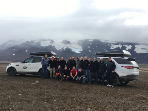 The 15-strong group took part in the ultimate off-road challenge in the island's wild landscapes (Photo: Business Wire)