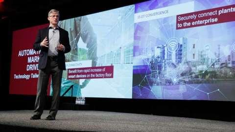 """在定于11月14日在希尔顿美洲休斯顿酒店(Hilton Americas-Houston)举行的""""自动化前景""""全球媒体论坛上,罗克韦尔自动化的总裁兼首席执行官Blake Moret将分享他关于有助于推动业绩和提高工业生产效率的自动化趋势和技术的愿景和见解。(照片:美国商业资讯)"""