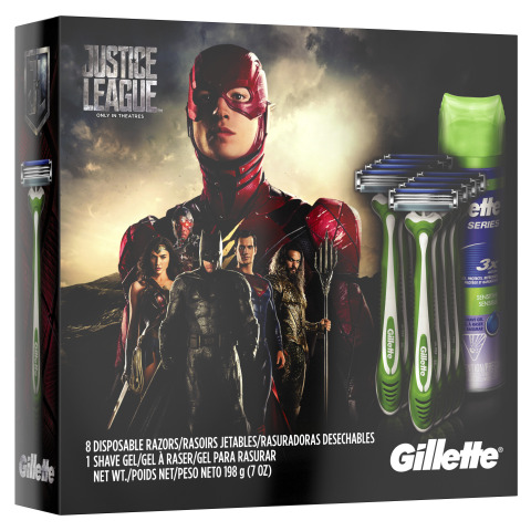 """Gillette unveils six special edition gift packs as part of its partnership with Warner Bros. Pictures' upcoming film """"Justice League."""" (Photo: Business Wire)"""