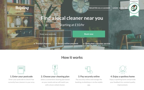 Cif partners with cleaning platform Helpling through Unilever Foundry to provide a premium home cleaning and beautification service (Photo: Business Wire)