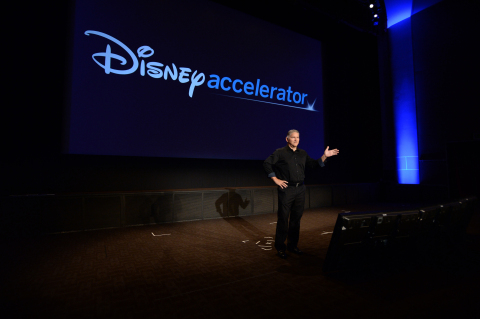Cliff Plumer speaks at the Disney Accelerator Demo Day 2017 (Photo: The Walt Disney Company)