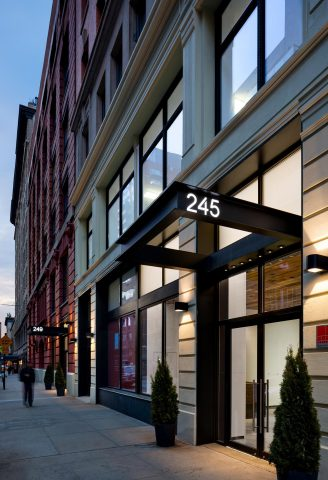 Columbia Property Trust has acquired two Midtown South office assets from New York REIT for $514 million, including 245-249 West 17th Street (pictured), which houses Twitter's New York headquarters, and 218 West 18th Street. (Photo: Business Wire)