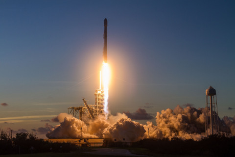 EchoStar 105/ SES-11 Successfully Launched on SpaceX's Falcon 9 (Photo: Business Wire)