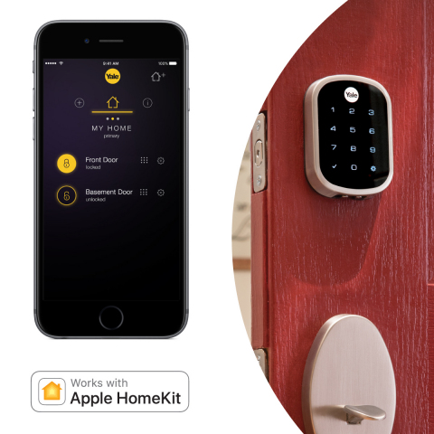Yale Locks & Hardware announced Apple HomeKit support for its Assure Lock family, including the new Assure Lock SL. (Photo: Business Wire)