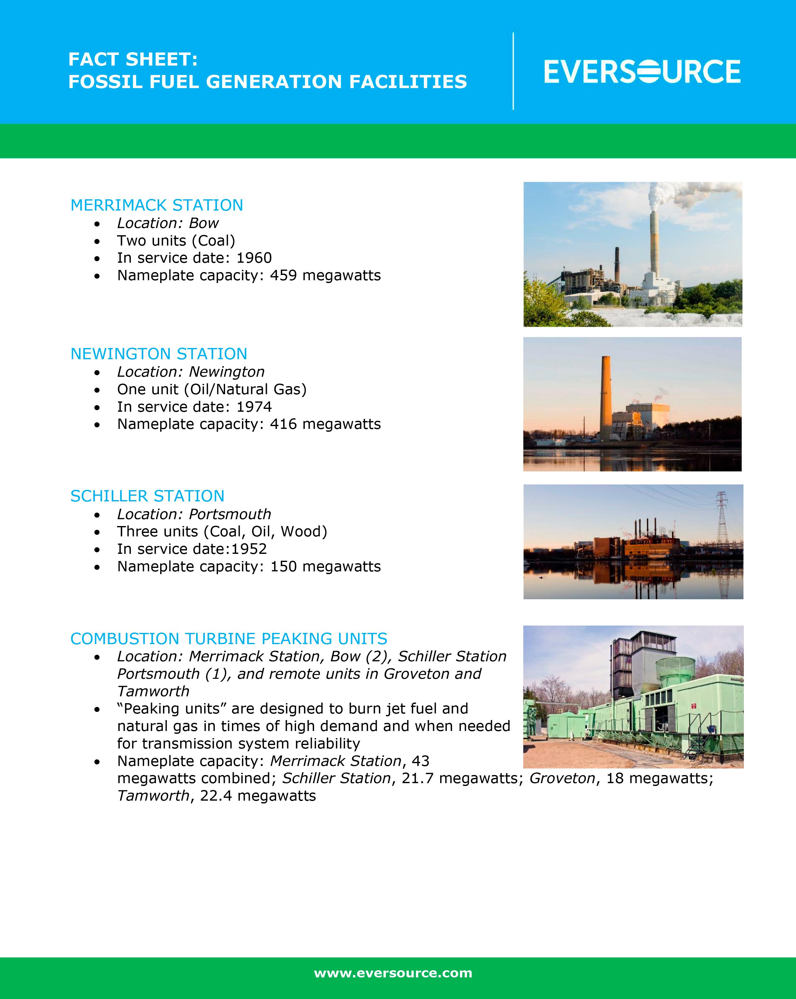 Eversource Announces Sale of Power Plants