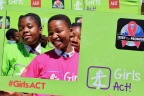 Young girls strike a pose at an AHF Girls ACT event (Photo: Business Wire)