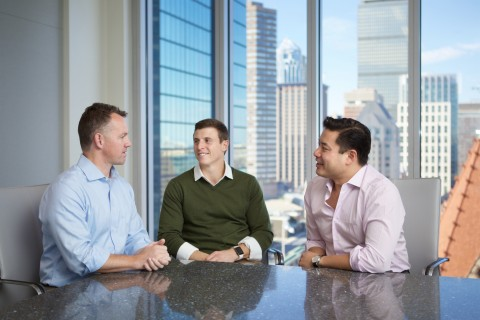 M33 Growth Co-Founders and Managing Directors (from left): Brian Shortsleeve, Michael Anello and Gab ...