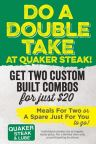 Do A Double Take Combo Meals QS&L (Photo: Business Wire)