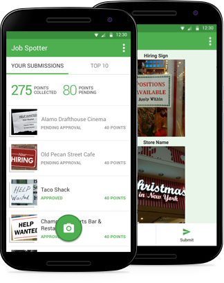 Indeed, Canada's #1 job site, today announced the Canadian launch of Job Spotter, the first mobile app designed to bring offline local job postings online, and help employers increase visibility of their local opportunities. (Photo: Business Wire)