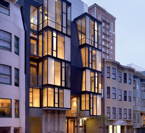 Condominiums in Nob Hill neighborhood of San Francisco designed by Kennerly Architecture & Planning and built by Buena Vista Construction. (Photo: Business Wire)