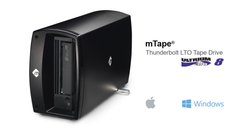 mLogic mTape LTO-8 - 12TB per data cartridge, 300 MB/second data transfer rate. (Graphic: Business Wire)