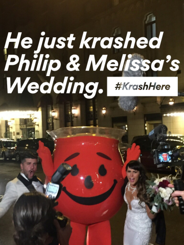 """Fans can enter to win a surprise """"krash"""" by Kool-Aid Man by tweeting @koolaid on Twitter with why they should win, with the hashtags #KrashHere and #contest. (Photo: Business Wire)"""