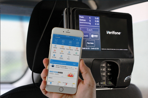 Verifone enables Alipay in NYC and Las Vegas Taxis. (Photo: Business Wire)