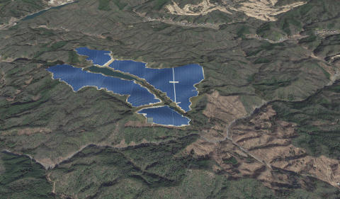Toyota Mega Solar Power Plant - Image of completed plant (Graphic: Business Wire)