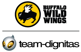 "Buffalo Wild Wings Inc. (NASDAQ: BWLD) announced today a partnership with Team Dignitas, an internationally recognized esports organization. Through the partnership, Buffalo Wild Wings becomes the ""Official Hangout for Team Dignitas"" and receives prominent logo placement on the sleeve of Team Dignitas jerseys, player appearances at restaurants, exclusive content featuring players, and branding on monthly Team Dignitas live streams on Twitch and Facebook. (Graphic: Buffalo Wild Wings)"