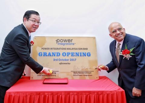 Rt. Hon. Mr. Lim Guan Eng, Chief Minister of Penang and Balu Balakrishnan, President and CEO of Powe ...
