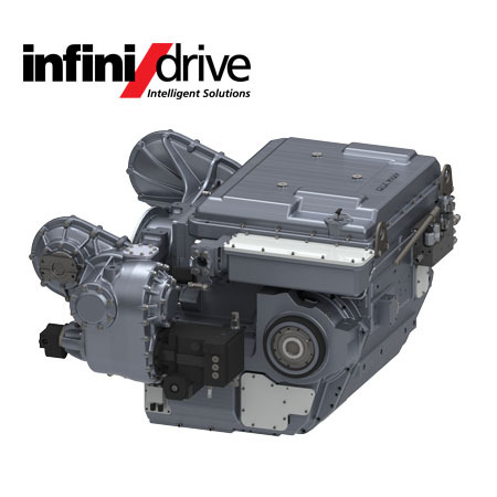 InfiniDrive HMX3000 Transmission with MD500 Marine Drive PTO (Photo: Business Wire)