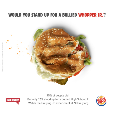 BURGER KING® BRAND BULLIES THEIR OWN SANDWICH TO PROVE A POINT (Photo: Business Wire)